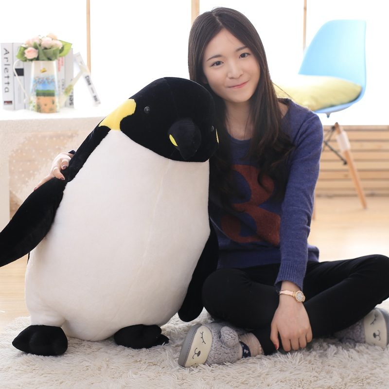 цены 40-80CM Cartoon Penguin Plush Toys stuffed plush animals black Penguin doll baby cloth doll Children pillow Cushion gift
