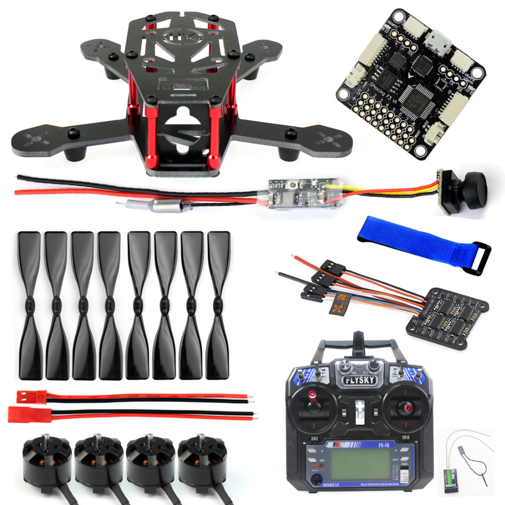 JMT DIY 150MM FPV Racing Drone H150 Carbon Fiber Frame 4000KV Motor 12A 4 IN 1 ESC 3 Inch Props SP Racing F3 Q25 Camera FS-i6 gemfan 5 4 3 3d propeller ghost gold 5040 5 inch 3 blade props for racing multirotor fpv gemfan 3d master props 4 diy drone