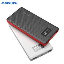 Лидер продаж 10000mA Мощность банк Pineng мобильного Зарядное устройство Bank Dual USB Портативный Зарядное устройство для IPhone IPad Samsung Note 3 4 5 7 смартфон
