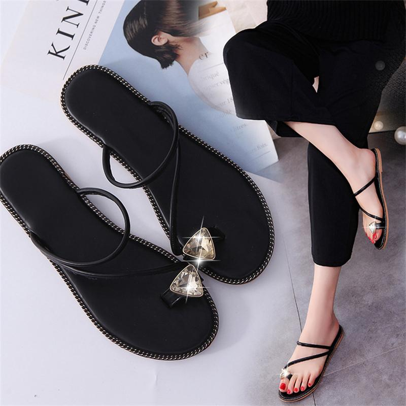 Women Sandals 2017 Summer Shoes Woman Flips Flops Wedges Crystal Fashion Comfortable Female Slides Ladies Casual Shoes Flat women sandals 2017 summer shoes woman wedges fashion gladiator platform female slides ladies casual shoes flat comfortable