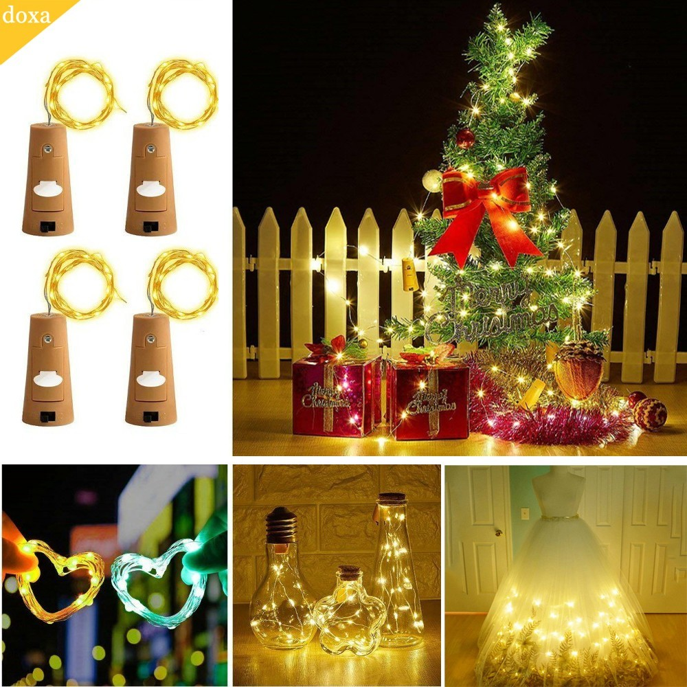 doxa New 20 LED Copper Wire String Lights Waterproof Holiday Lighting For Fairy Christmas Tree Wedding Party Decoration DIY цена