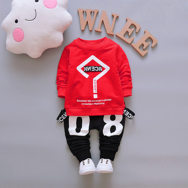 BibiCola 2018 baby boys clothing sets spring autumn kids boys tops+ pants infant sport suit for boys Toddler tracksuit outfits bibicola autumn baby boys clothing set gentleman outfits infant tracksuit 3pcs plaid t shirt pants vest sets bebe sport suit