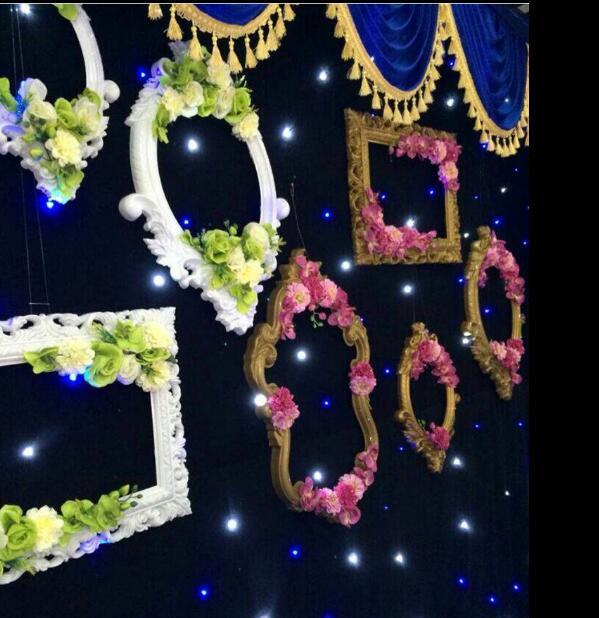 New European plastic photo frame gold wedding supplies window decoration stage background props
