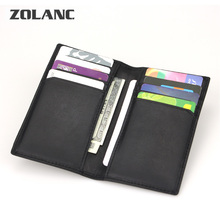 Zolanc cow id credit bank business pack genuine small purse wallet