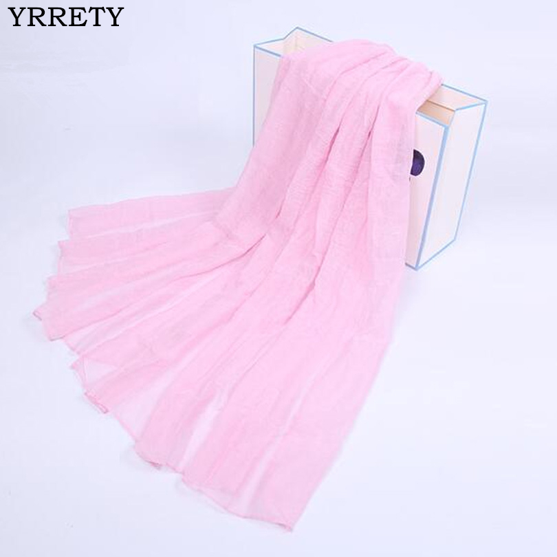 YRRETY 2018 Spring Autumn Fashion Women Classic Smooth   Scarf   Warm Shawl Female Pure elegant   Scarves     Wraps   Solid Color Thin Shawl