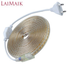 LAIMAIK SMD3014 Strip Led Light AC220V 120led/M Garland Tape IP67 Waterproof LED Light Strip +EU Plug Outdoor Led Strip Light(China)