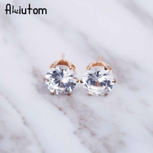 ALIUTOM 2017 luxury brand crystal jewelry earrings for women fit female earrings for gift girl