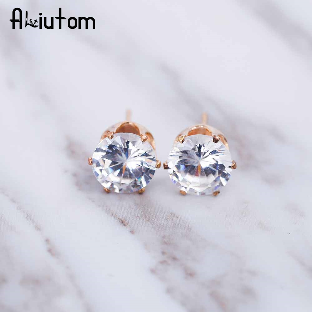 ALIUTOM 2017 luxury brand crystal jewelry earrings for women fit female earrings for gift girl