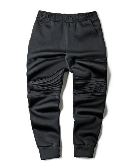 Moda Hiphop Pantalones de Los Hombres Ocasionales de La Motocicleta Pantalones de Hip HOP Negro Delgado Del Todo-Fósforo Espacio Algodón Cerrado Pantalones de Pie desgaste Hombre