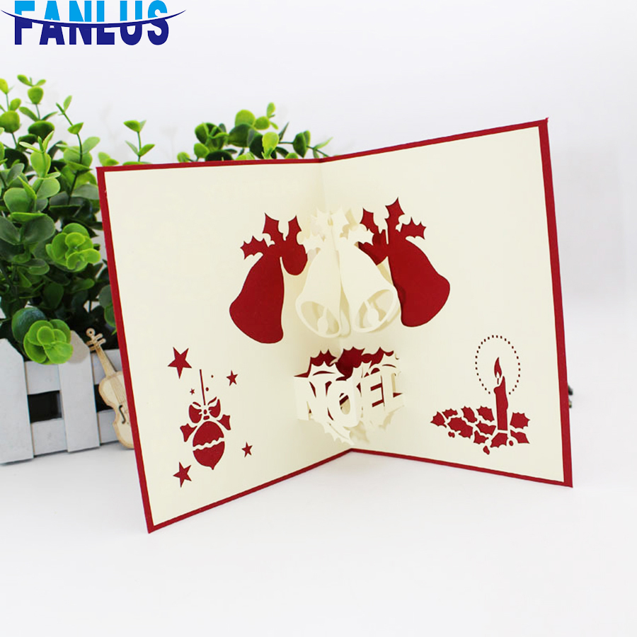 Bag 3d Hollow Invitation Cards Merry Christmas Invitations Gift Card For Party Favors Supplies Xmas Parties Decoration Card Birthday Greetings