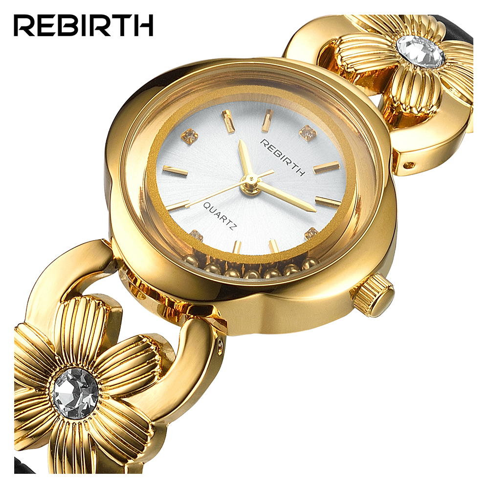 Brand REBIRTH  Luxury Famous Fashion Quartz Watch Women Watches Ladies wristwatches Female Clock Montre Femme Relogios Feminino rebirth fashion casual womens watch luxury high quality leather ladies watches waterproof quartz watches for women montre femme
