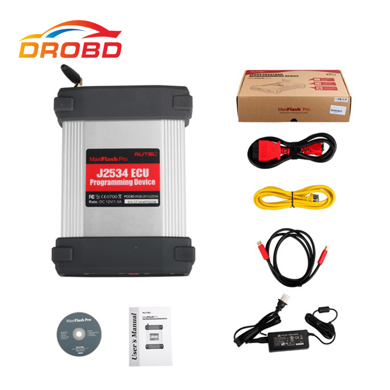 Autel MaxiFlash Pro J2534 ECU Programming Tool Works with Maxisys 908/908P Autel MF2534 J2534 ECU Free shipping autel maxisys elite car diagnosis j2534 ecu programing tool faster than ms908p 908 pro free update 2 years on autel website
