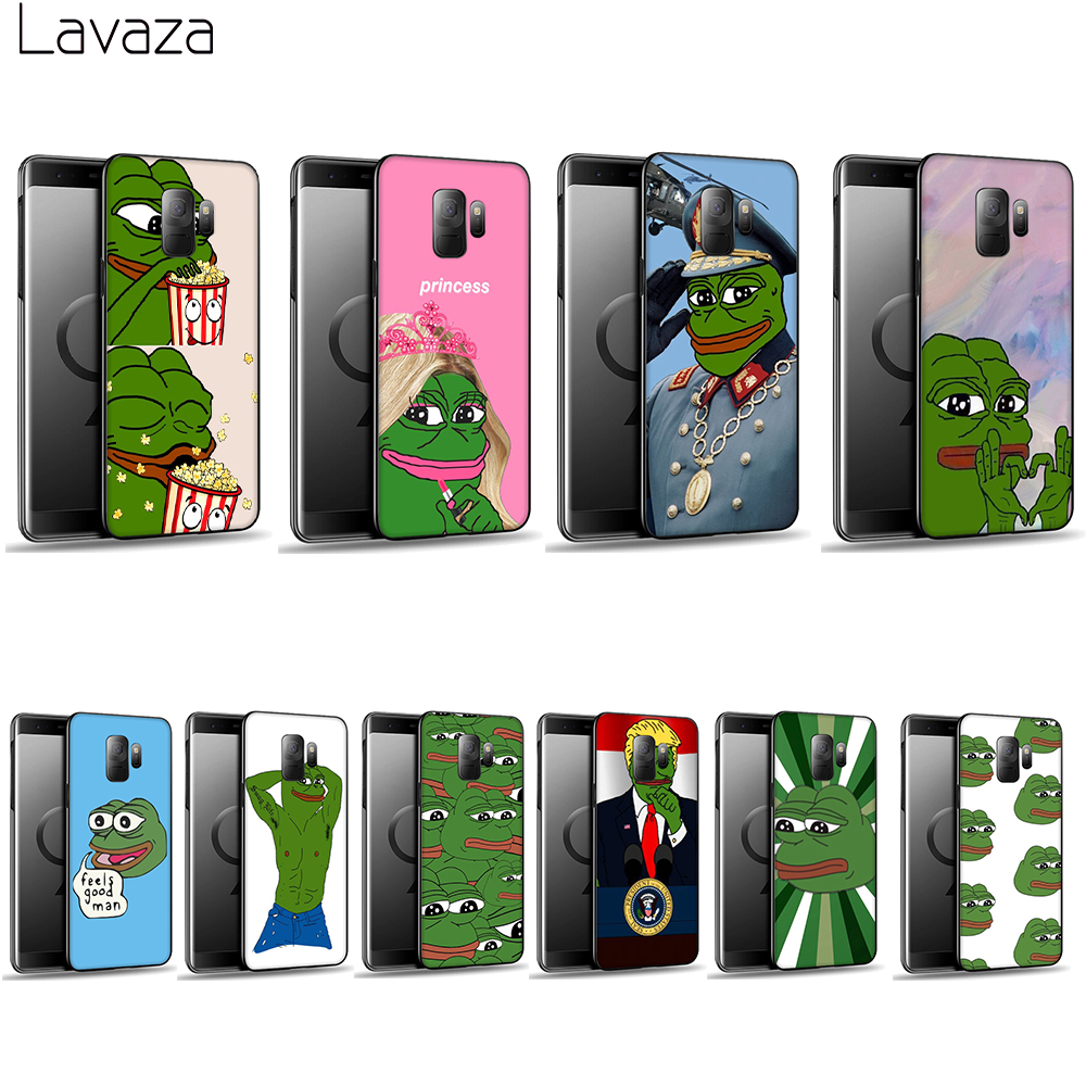 Lavaza Meme Smug Frog Pepe Soft Case for Galaxy A3 A5 2016 2017 A6 plus A7 A8 A9 J6 2018 A10 30 40 50 70 image