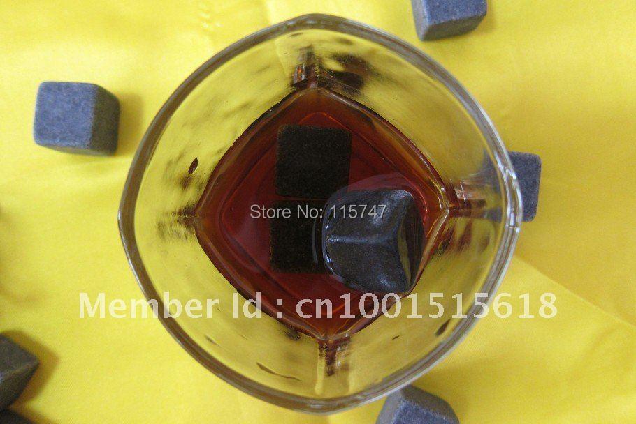 Whisky stones 6pcs/set +velvet bag, 150sets/lot, cooling wine stone, - Kitchen, Dining and Bar - Photo 3