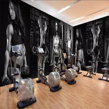 Gym sexy beauty wall background professional making murals wholesale wallpaper custom poster photo