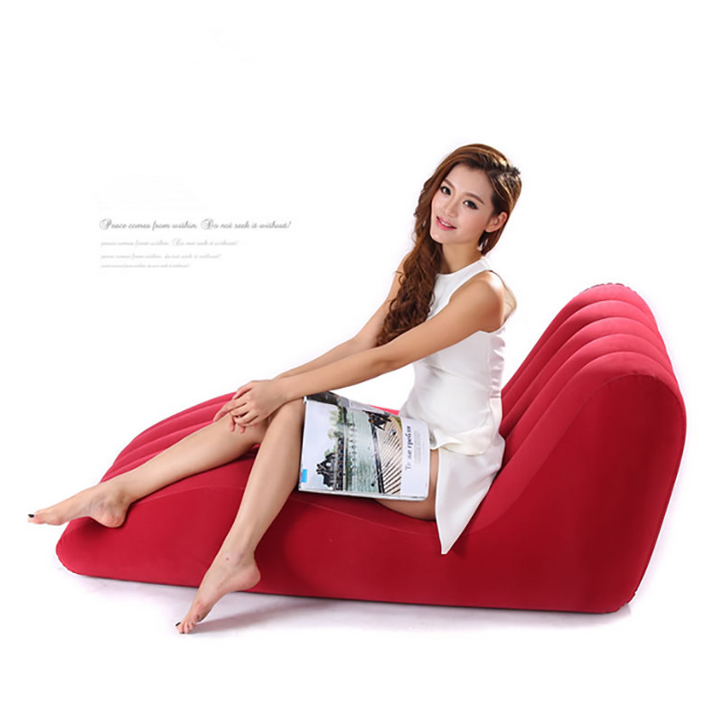 Type s Flocking inflatable sofa chair Outdoor leisure chair Inflatable sofa European style single bed european leisure tables and chairs fashion leisure sofa chair small coffee table beauty salon to discuss the single chair 3pcs