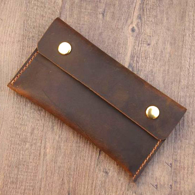 f31e5324db Handmade Retro Men Genuine Leather Wallets Long Cow Leather Men Clutch Bags Genuine  Leather Men Wallet