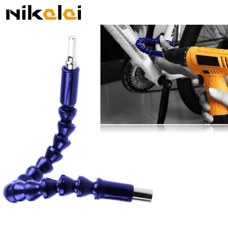 NEW Flexible Shaft Hex Flex Electric Drill 305mm Extention Screwdriver Bit Holder Connect Rod Tools Universal soft shaft