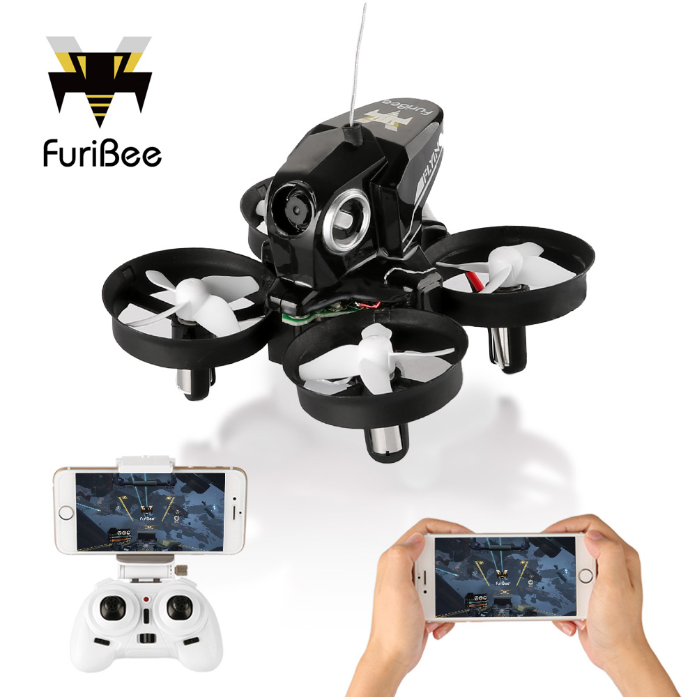 New FuriBee H801 Mini Drone With WiFi FPV Remote Control Quadcopter Headless Mode One Key Return RC Quadcopters VS JJRC H36 H37