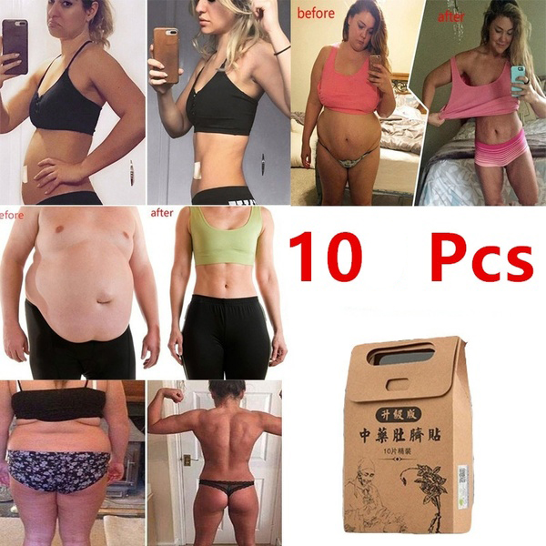 10PCS Traditional Chinese Medicine Slimming Diets Navel Sticker Slim Patch Lose Weight Fat Burning Healthy Detox Adhesive Sheet