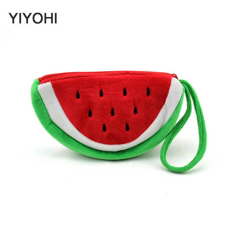 Kawaii Fruits 10CM Hand Coin Purse Wallet Pouch Case Bag Women Lady Bags Pouch Beauty Holder Bag Handbag  Storage Bag kawaii fresh summer fruits banana