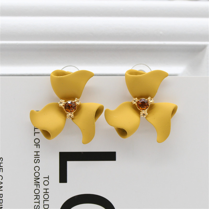 <font><b>2019</b></font> New Design Fashion Jewelry Elegant <font><b>Flower</b></font> <font><b>Earrings</b></font> Summer Style Beach Party <font><b>Statement</b></font> <font><b>earring</b></font> <font><b>for</b></font> Girls gift <font><b>for</b></font> woman image
