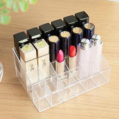 Divat Átlátszó kozmetikai doboz, asztali befejező doboz, - Szervezés és tárolás - Fénykép 3