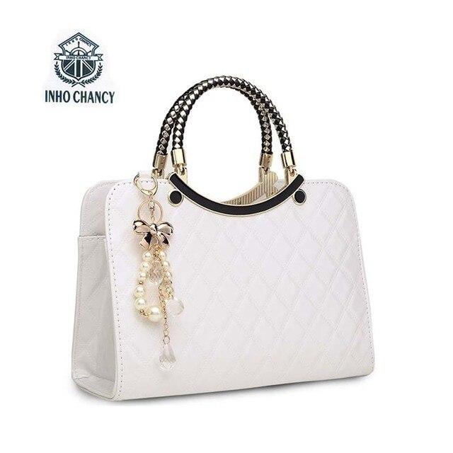 2017 novo Luxo simples conchas bolsa marcas Famoso designer de couro maré feminino tricô ombro saco saco Do Mensageiro das mulheres
