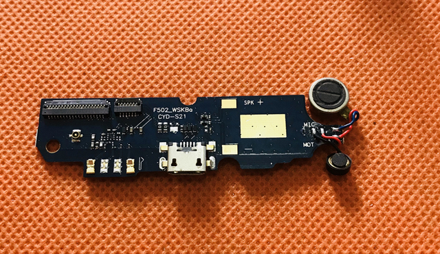 Used Original USB Plug Charge Board +MIC Microphone For Oukitel K4000 Plus MT6737 Quad Core 5.0 inch Free shipping