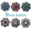 6 colores d02707 flor más nueva pulsera de botón a presión para las mujeres botón rivca botón snap pulsera fit 18mm flor joyería