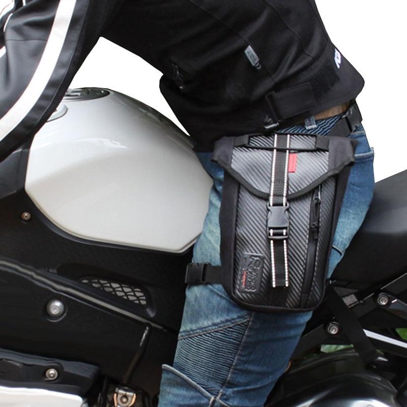 Férfi deréktáska Tartós Oxford Fanny Pack csepp láb táska motorkerékpár lovas comb öv táska utazási csípő táska telefon táska pénztárca