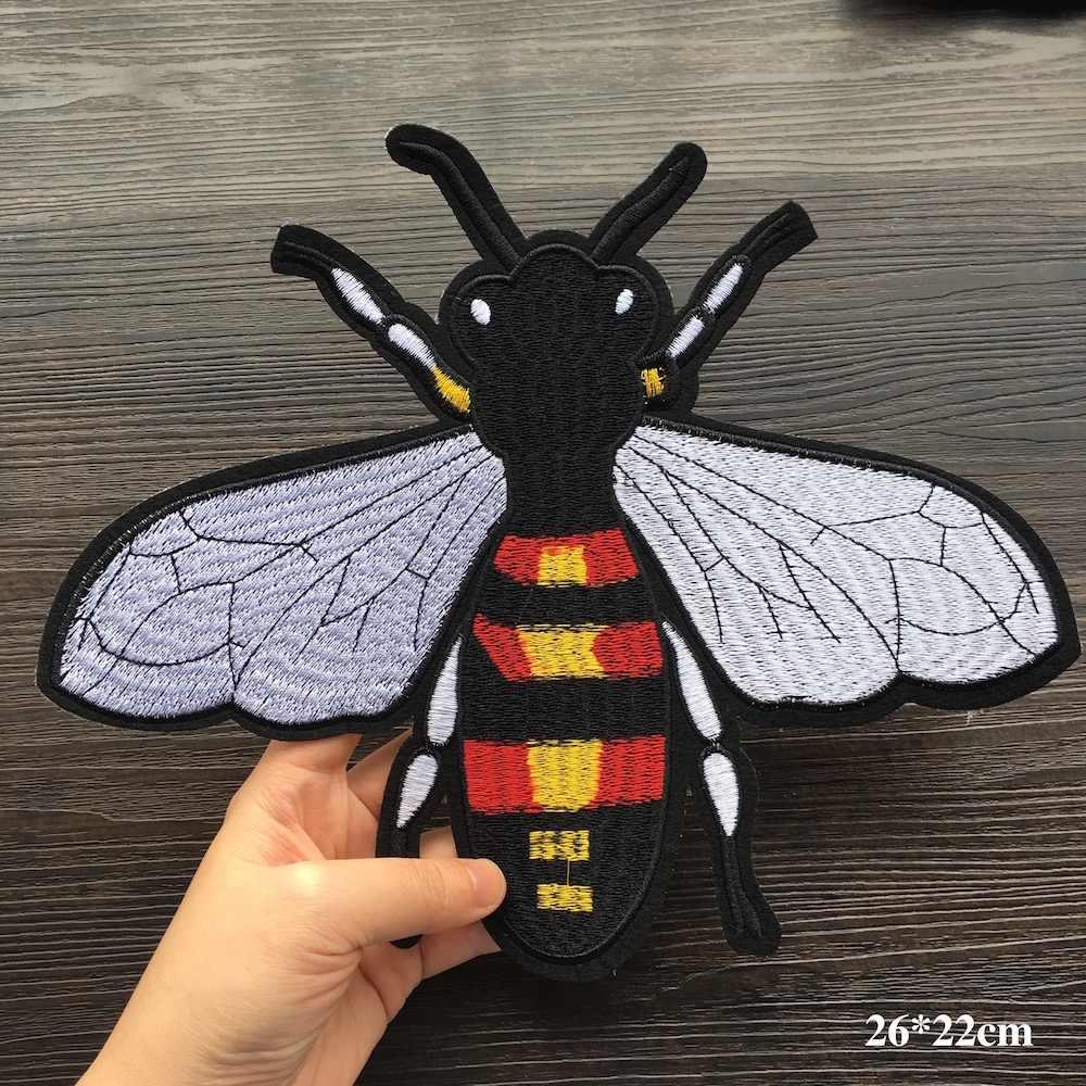 Шт. 1 шт. вышитые нашивки пчела для костюмы DIY нашивка с вышивкой нашивки одежда куртки джинсы Shooes сумки LSHB386
