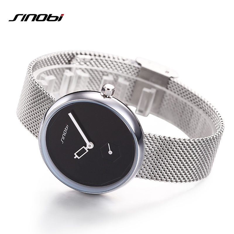 Newest Simple Ideas Sliver Mesh Stainless Steel Watches Women Top Brand Luxury Casual Clock Ladies Wrist Watch Creative Watches