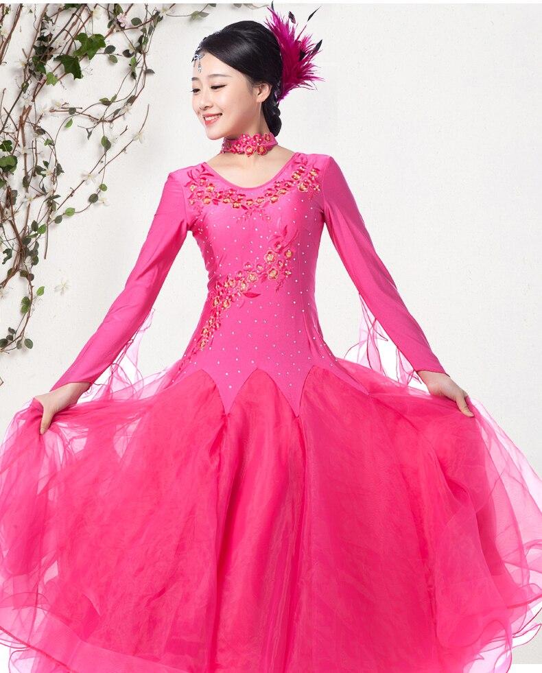 Nuevo estilo de doble hombro para mujeres, salón de baile, vals, - Ropa de danza y vestuario escénico - foto 6