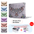 Print Eagle Patterned Shell Crystal Case For Laptop Apple Macbook Air 11 A1465 Pro Retina 12 13 15.4 For Mac Book 13.3 Inch