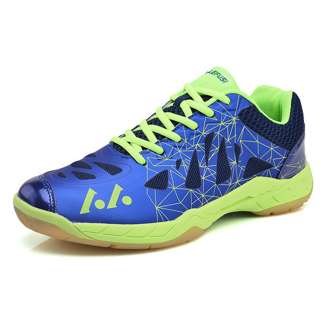 2018 New Badminton Shoes For Men Breathable Indoor Sport Shoes Lightweight Tenis Badminton Sneakers Blue Green Mens Trainers sale badminton shoes sneakers sport men sneaker free indoor man new professional walking breathable hard court medium b m