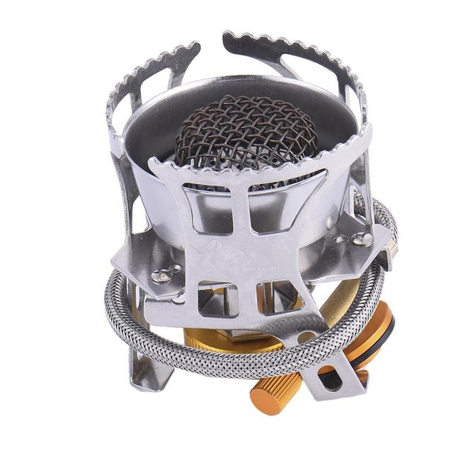 Golden Camping Stove Split Gas Stove Outdoor Picnic Picnic Camping Necessary Field Furnace Compact And Portable