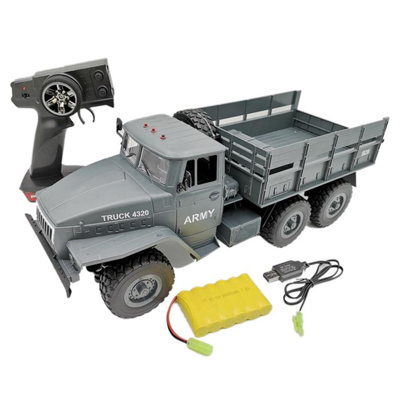 WPL 1:16 Soviet Ural Military Remote Control Truck Children Toy Car Army Truck Electric Remote Car Kids Birthday Christmas Gift