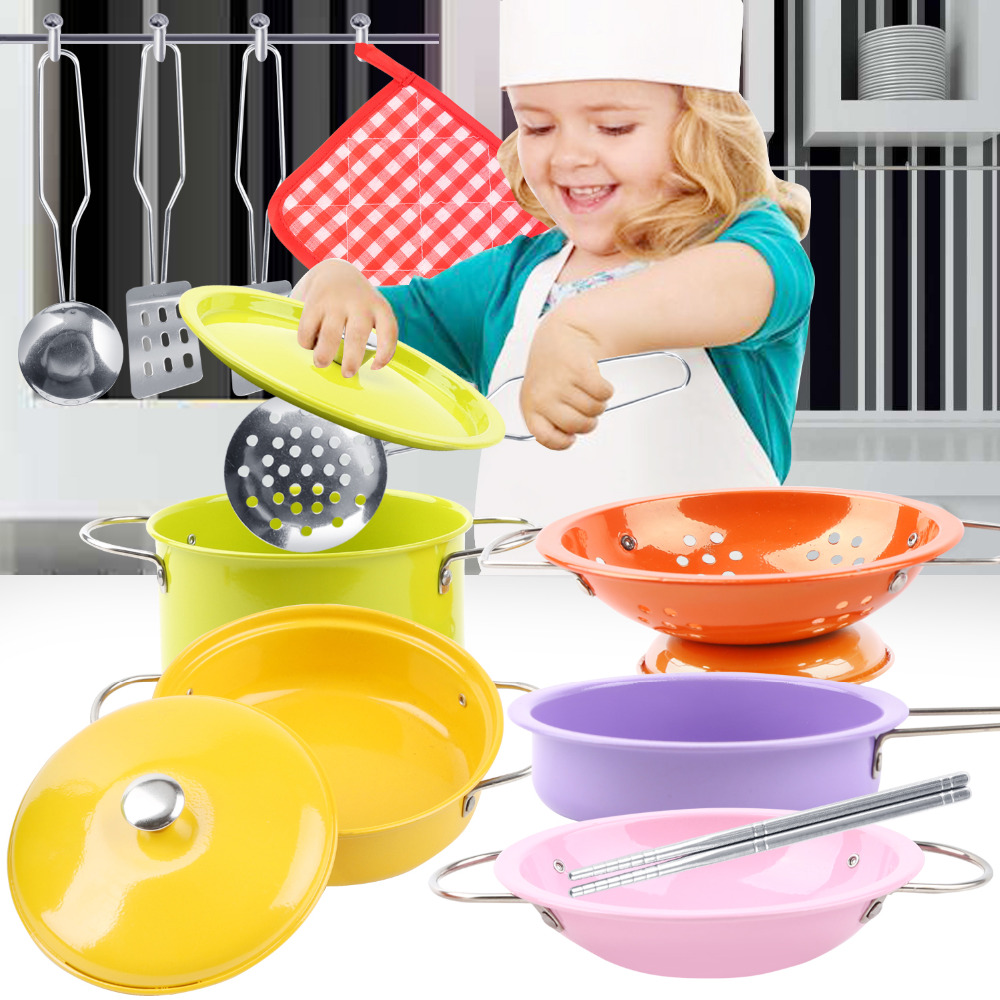 Kids Kitchen Pretend Role Play Set Toys Creative Children Cooking Home Cookware