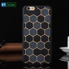 Etician вафельная чехол для iPhone 6 6 S 2017 люкс тонкий пластик жесткий задняя крышка для iPhone 6 plus телефон Чехлы Coque