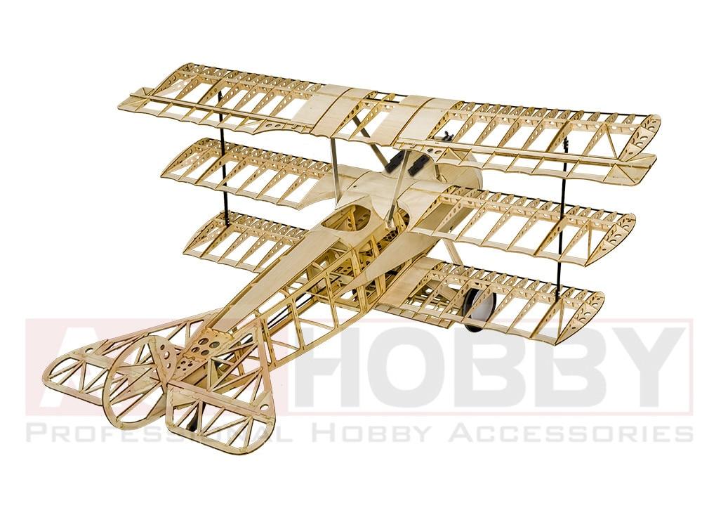 Balsawood Airplane Model Laser Cut Fokker de energía eléctrica DRI - Juguetes con control remoto - foto 2