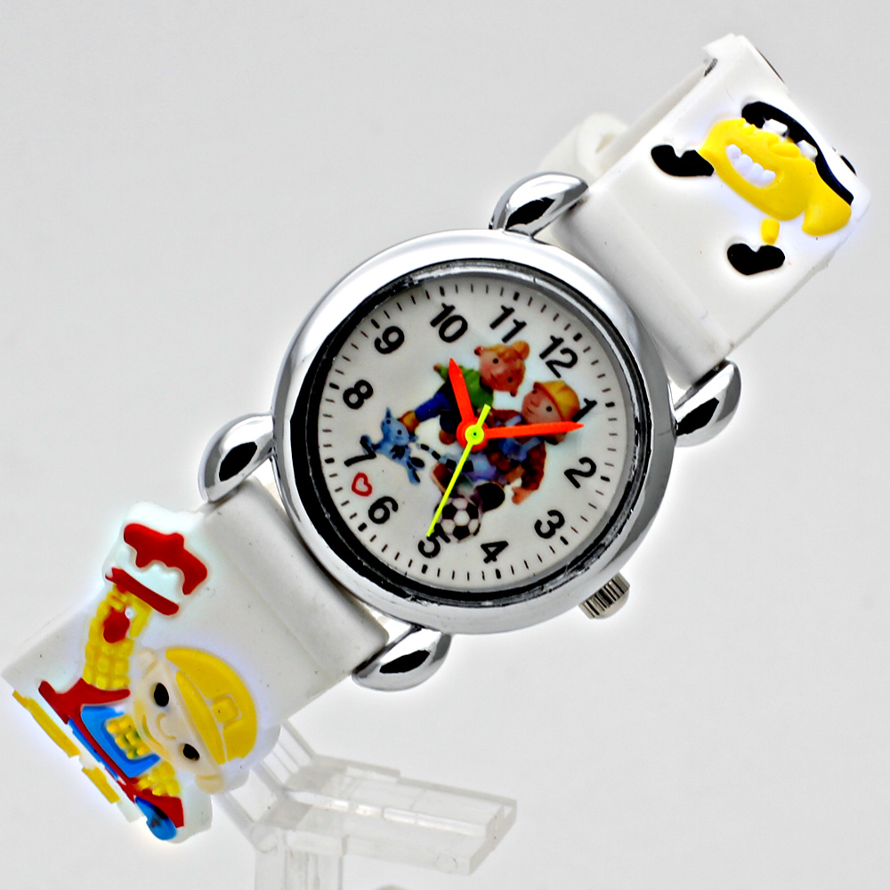 Fashion 3D Child Watch Silicon Cartoon Børn Sport Watch Boy Quartz - Børneure - Foto 5