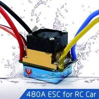 480A Escovado ESC Controlador de Velocidade À Prova D' Água com 5 V/3A BEC para 1/10 RC Crawler SCX10 D90 Traxxas Tamiya HSP Carro RC