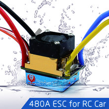 480A Waterdichte Geborsteld ESC Speed Controller met 5 V/3A BEC voor 1/10 RC Crawler SCX10 D90 Traxxas Tamiya HSP RC Auto(China)