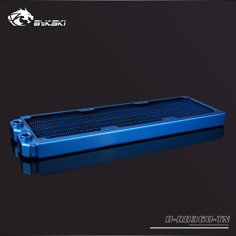 BYKSKI 28mm Thick Copper 360mm Single Row of Radiator Computer Water Cooling Liquid Heat Exchanger use