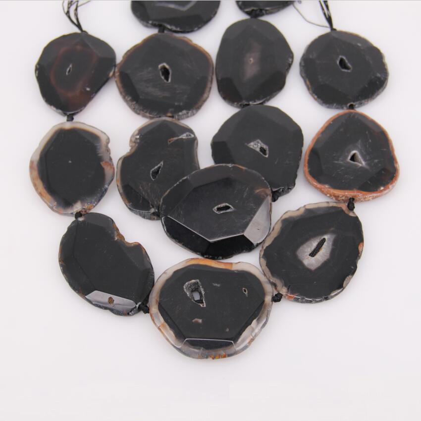 7 шт. strand, freeform Грановитая купля плиты Бусины Craft Цепочки и ожерелья, большой черный купля натуральный Камни вырезать фрагмент Подвески