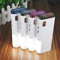 Real 12000 mAh banco de Potencia Dual USB LED de luz de Neón con display LCD cargador de batería externa Para El teléfono Celular universal