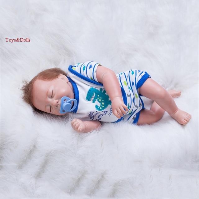 52 cm Brasil Renascer Baby Dolls 20 Polegada Corpo Inteiro de Vinil Boneca nova Moda camisa do menino t com bebe reborn Realista Adorável dormir