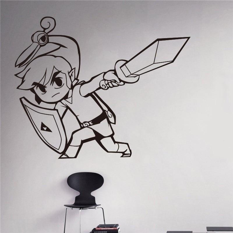 Neue Ankunft Prinzessin Zelda Wandtattoo Video Game Of Home Interior Wohnzimmer Decor Tr Aufkleber Haushaltswaren