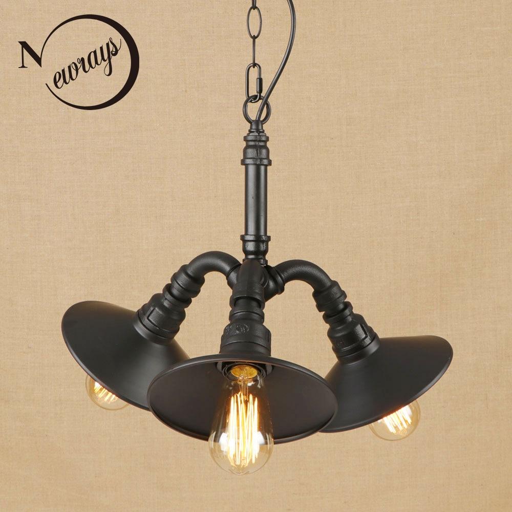 Vintage Iron Metal Classical Pendant Lamp LED 3 Lamp Pendant Light Fixture E27 110V 220V For Kitchen Lights Other Bedrooms Bar